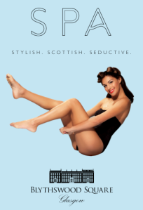 Love the pin-up girl artwork for the Blythswood Hotel Spa | Rollin' With The Homies blog www.prettyuglyclub.com