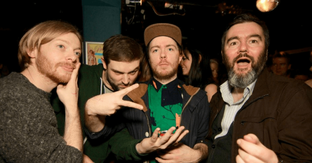 2013 Feb Twilight Sad, Chvrches & Aidan Moffat on the dancefloor